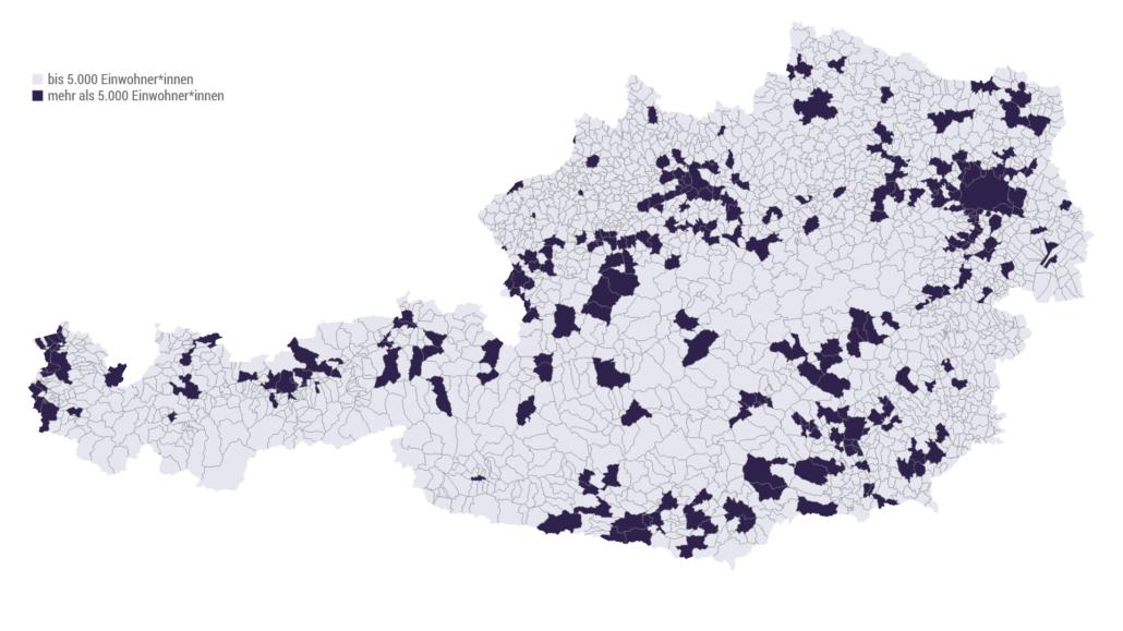 Gemeinden mit bis zu/ab 5.000 Einwohner*innen