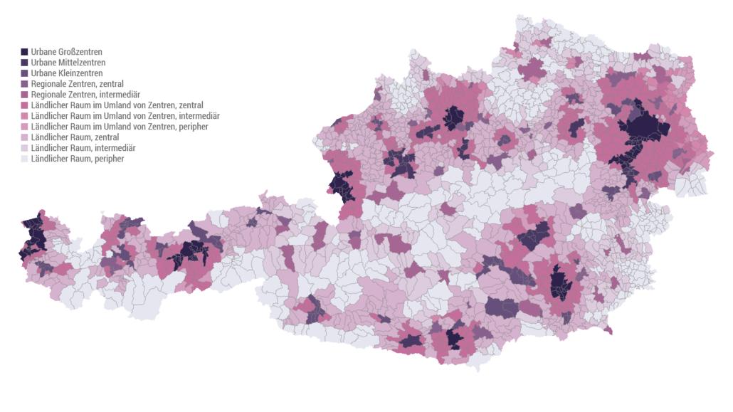 Urban-Rural-Typologie der Statistik Austria