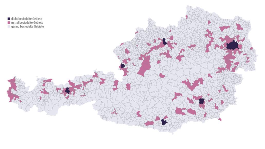 Urbanisierungsgrad der österreichischen Gemeinden